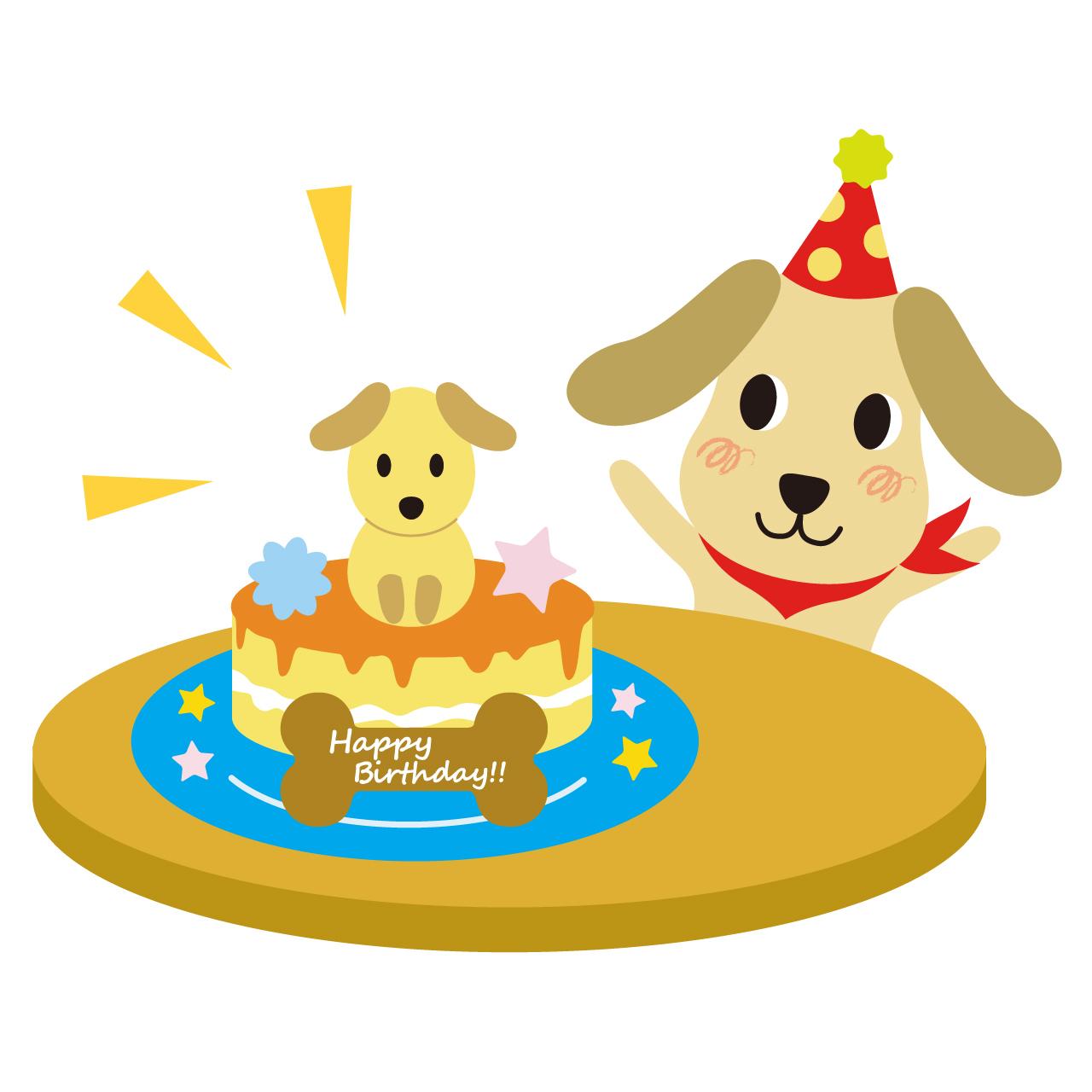 誕生日ケーキ_犬