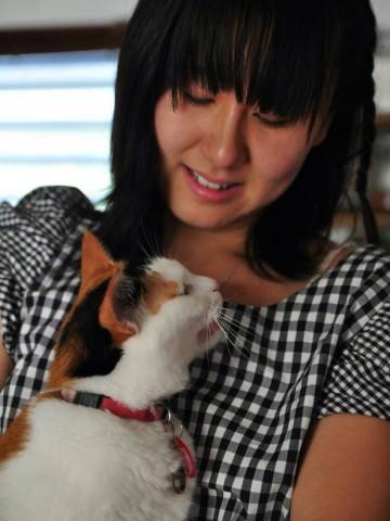 野村唯ペットと一緒